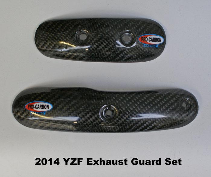 Yamaha Exhaust Guard - YZ450F 2014-17 Set