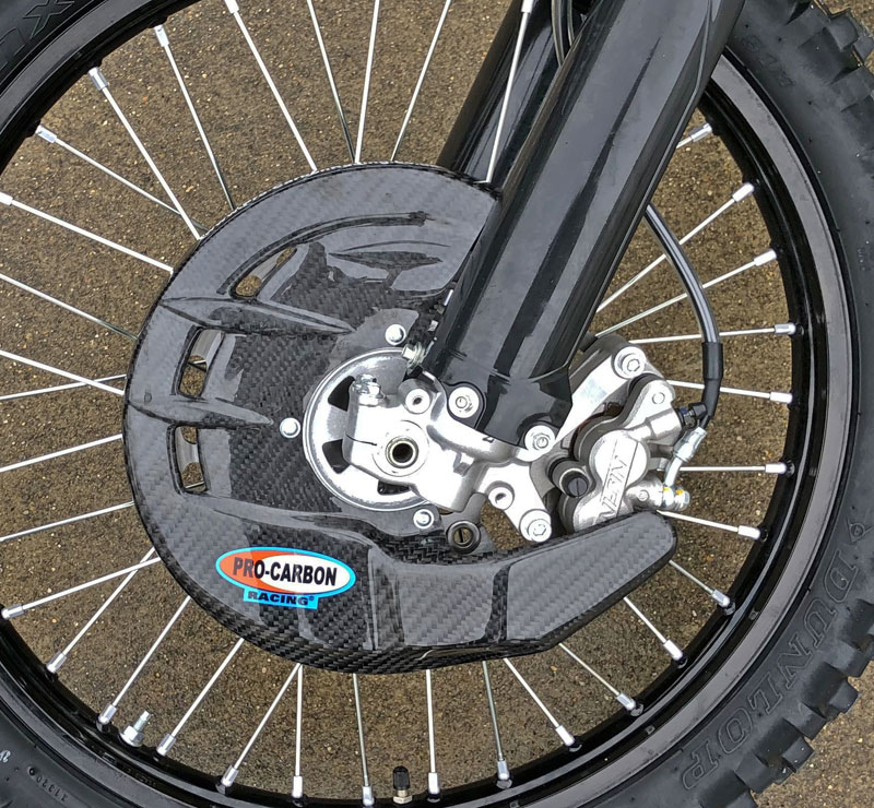 Honda Front Disc Guard - Including Fitting Kit - All CR / CRF  models from 2004-21