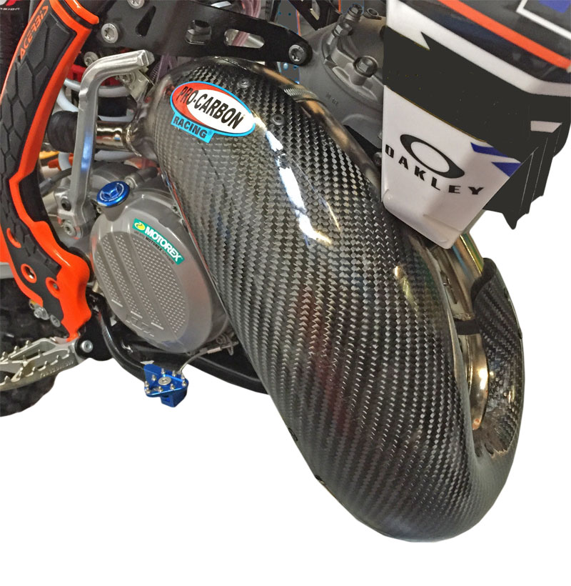 KTM Exhaust Guard - Year 2004-15 - 125/144/150 SX for FMF Fatty