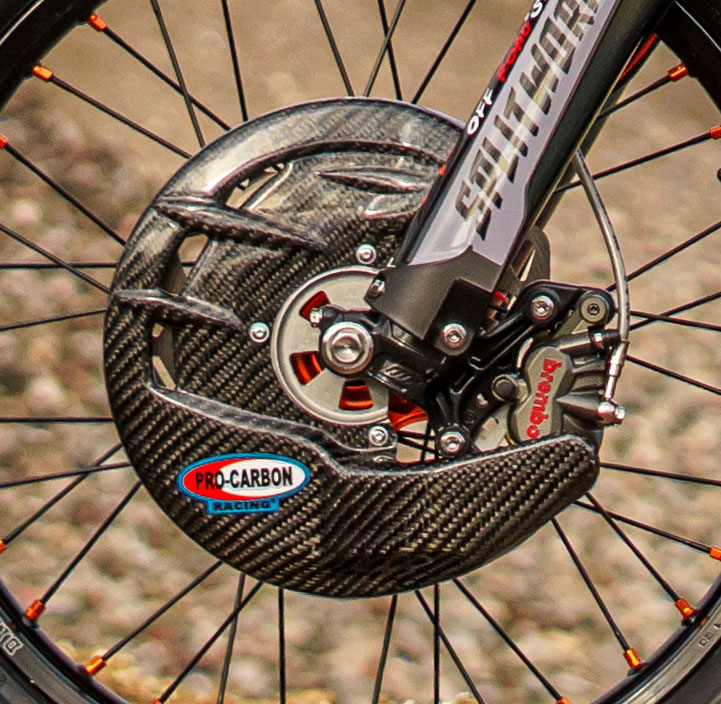 KTM Front Disc Guard - Including Fitting Kit -   SX / SX-F   from 2004-14