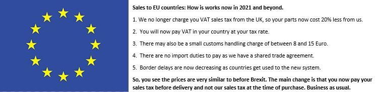 Delivery info EU